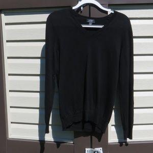Lord & Taylor Fine Merino Wool V-Neck Sweater